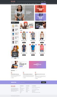 T-shirt Shop Responsive OpenCart Template #63829