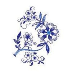 EMBROIDERED- BLUE ONION--QUILT BLOCKS; $21.99