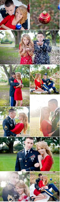 Military Engagement Photos Christmas Kathleen Clipper Photography