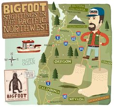 A map of sightings in the Pacific Northwest - this has to mean something, right?!