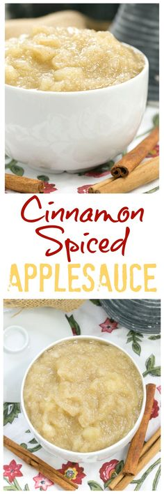 Cinnamon Spiced Applesauce | So easy, so delicious! @lizzydo