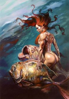 """Underwater"" by Boris Vallejo"