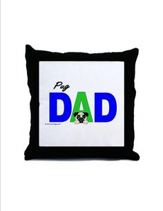 Pug Dad Pillow  Personalized by CCGirlsCorner on Etsy