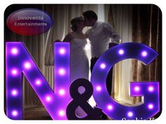 Have your initials in our giant letters. Personal touches for any wedding.
