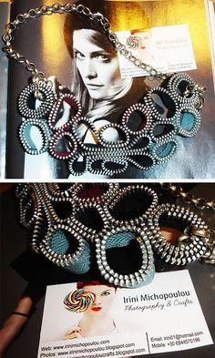 zipper necklace diy