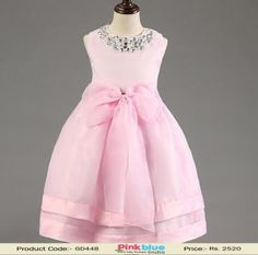 34cbf0b874 Designer Baby Pink Birthday Party Dress - Princess Wedding Dresses for 1-7 Years  Old