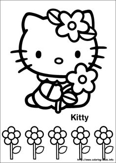 Hello Kitty coloring pages Free Coloring, Coloring Pages For Kids, Coloring Sheets, Coloring Books, Pattern Coloring Pages, Online Coloring Pages, Free Printable Coloring Pages, Chat Hello Kitty, Hello Kitty Themes