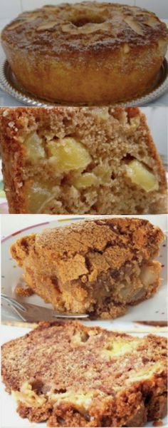 Portuguese Recipes, Slow Food, Apple Cake, Coco, Banana Bread, Delicious Desserts, Food And Drink, Low Carb, Cooking