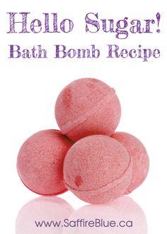 Hello Sugar! Bath Bomb Recipe