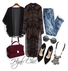 Blak shein kimono wear it withZara shirts top,J.Crew destroyed jeans,Zara suede shoes,Zara purple handbag andZara necklace Zara shirts top 390