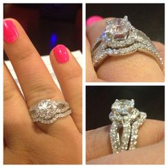Wedding & Engagement ring! 2.15 carats, round, brilliant cut.