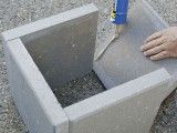 DIY planters with pavers - of course! Cheapest way for simple planters and can even spray paint for pop of color.