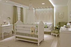 elegant, delicate,green and white nursery
