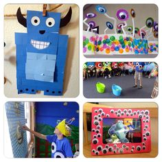 Monster party crafts and games