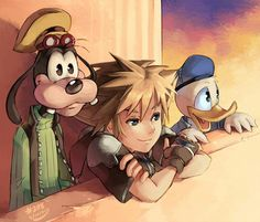 Kingdom Hearts 2 - Sora, Donald, and Goofy