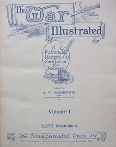 THE WAR ILLUSTRATED Volume One Title Page