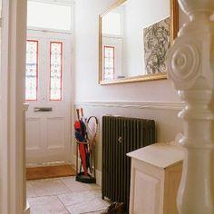 Traditional radiator & leaded front door