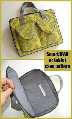 Smart IPAD or tablet case sewing pattern. Sewing pattern for this Ipad case. One of the best tablet cases/bag sewing patterns you'll find. Beautiful professional finish on this bag. Great value pattern. Could be adapted for lots of ideas and sizes. #SewModernBags