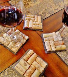 Slate Wine Cork Coasters by @ScatteredTreasures Etsy