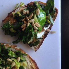 Brussels and kale on sourdough