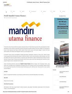 10 Ide Mandiri Utama Finance Keuangan Mandir Gerak