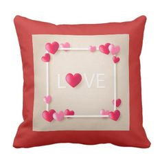 Love Throw Pillow - valentines day gifts love couple diy personalize for her for him girlfriend boyfriend