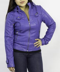 Take a look at this Royal Blue Tab Jacket by Downtown Coalition on #zulily today!