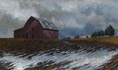 """""""Mud Season"""" by John Dean, Acrylic on stretched canvas,  20"""" x 36"""""""