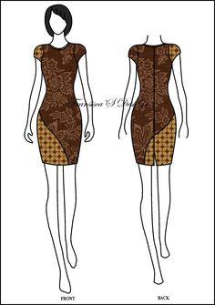 Dress span kombinasi lengkung bawah.  #FashionDesigner #Butik #OnlineShop #DesainBajuBusanaWanita #Sketsa #Sketch #Modern #Casual #Trend #Blouse #Dress #Skirt #Hem #Batik #SoloBaru #Sukoharjo #Surakarta #JawaTengah #HP:085226138628 #PinBB:5176EF34