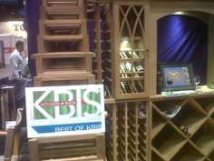I'm proud to announce that our American Made, wood wine racks have won Best of KBIS!