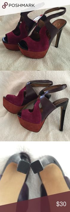 NWT Jessica Simpson Platform Heels Never worn! These perfectly balanced colors can be the highlight of any outfit. These 5' heels instantly become 3 1/4' when you consider the platform. Jessica Simpson Shoes Platforms