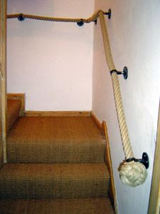 nautical rope staircase banister