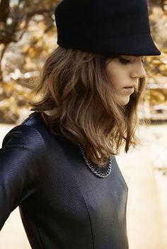 Black leather top ♥ Freja Beha Erichsen