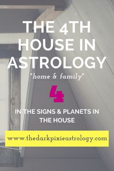 The 4th House (of home & family) - Interpretations in the signs and planets in the house: http://www.thedarkpixieastrology.com/the-4th-house.html