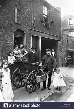 Cat's meat man in an East End street, London, The man with his barrow outside a house, holding the hand of a small child. A lump of meat is on top of the barow. Galt came to London in. Get premium, high resolution news photos at Getty Images Victorian London, Victorian Life, Vintage London, Old London, Victorian Street, London Food, London Art, London Today, London Life