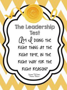 The Leadership Test Principal Principles
