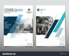 Blue Annual Report Brochure Flyer Design Template Vector, Leaflet Cover Presentation Abstract Flat Background, Layout In A4 Size - 399911986 : Shutterstock