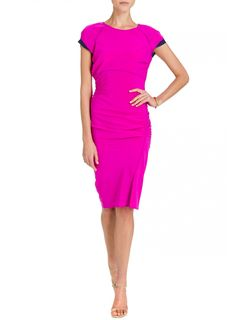 This bright pink cocktail number from Gryphon will definitely turn heads. Stand out at your next event #bright #colour #pink #gryphon #style