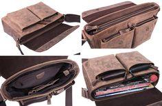 Image of Vintage Handmade Crazy Horse Leather Messenger Bag / Satchel / MacBook Laptop Bag Vintage Leather Messenger Bag, Leather Bags Handmade, Leather Briefcase, Leather Satchel, Tan Leather, Leather Handbags, Mens Satchel, Crazy Horse, Laptop Bag