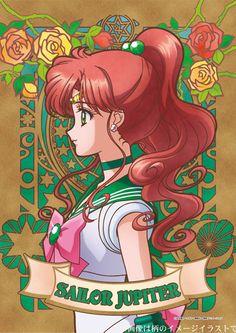 Sailor Moon Crystal portrait poster/puzzle series featuring Sailor Jupiter