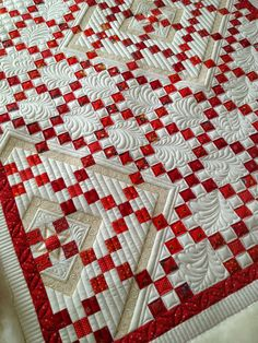 Love this red and white quilt!