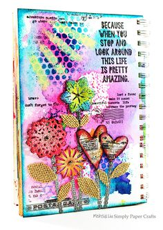 Mixed Media Art Journal by Meihsia for the Simon Says Stamp Monday challenge (Stamp and Mists)