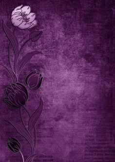 Vintage Purple Tulips Border A4 Backing Paper on Craftsuprint designed by Ann-marie Vaux - This backing paper could be used for so many of your paper project. Ideal to mix and match with other items or to matt and layer with other shades. Please click the multi link option button for colourways in this design. - Now available for download!