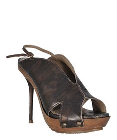 This Bronze Wrap Leather Sandal by Bruno Menegatti is perfect! #zulilyfinds