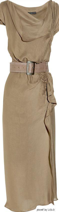 Donna Karan New York Asymmetric Ruched Crepe Dress