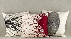 """Discover these exquisitely embroidered throw pillows,"" Mary Ransom writes, ""which double as ..."" murder weapons? Constant reminders of the likelihood that you'll die in a brutal, unnatural way? Yes. Genius wedding gift for an ex. Lost City Products: $250.00"