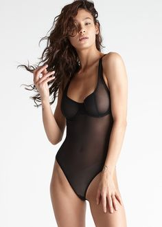 Seductive Silhouette High Leg Bodysuit with Flexible Underwire  80cdcf3c8