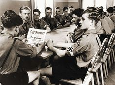 A Hitler Youth meeting.