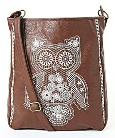 This Brown Owl Crossbody Bag is perfect! #zulilyfinds