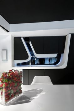 futuristic kitchen